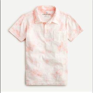 NWT Crewcuts boy's pink white tie dye polo sz 8